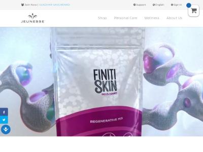 Скриншот сайта Убери морщины и продли себе молодость