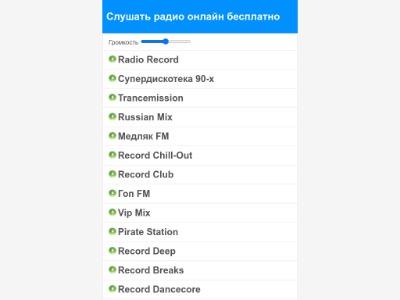 Скриншот сайта Слушать радио онлайн бесплатно