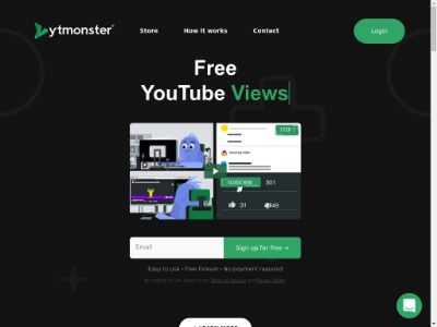 Скриншот сайта Мощная раскрутка на YOUTUBE. Бесконечный серфинг