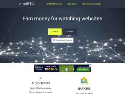 Скриншот сайта Здесь можно легко поднять биткоины