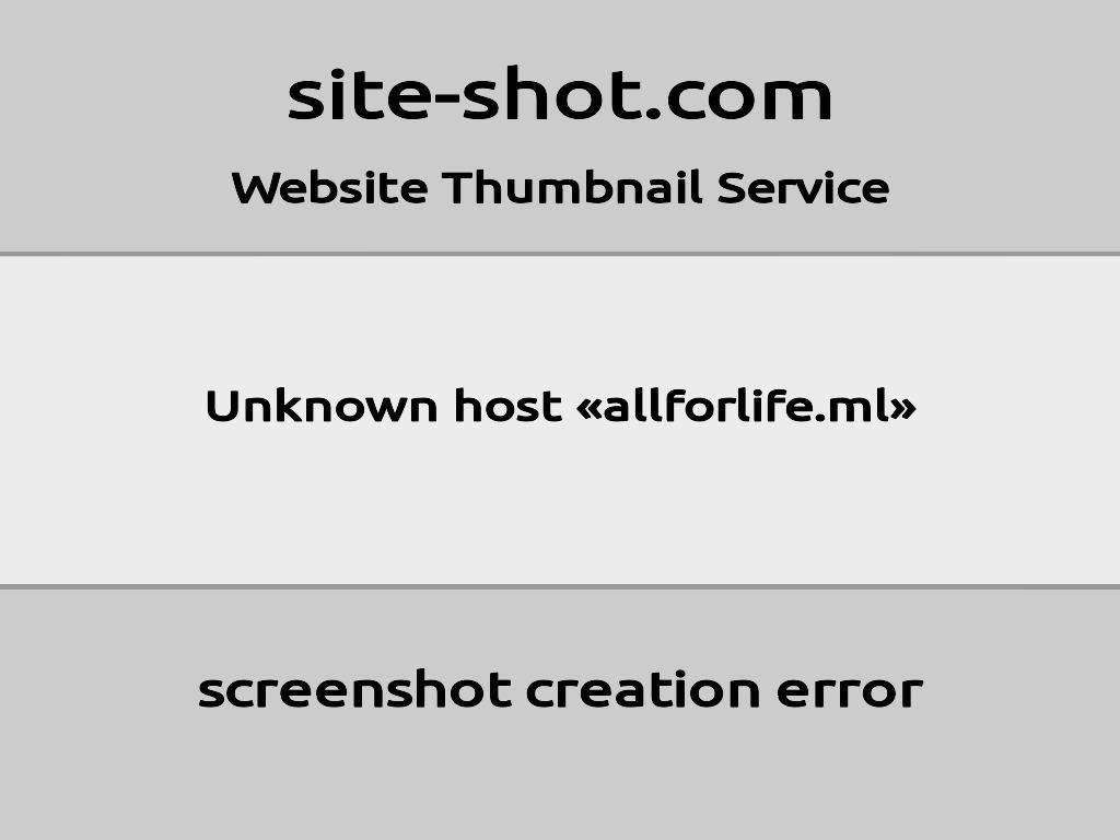 Скриншот сайта allforlife.ml