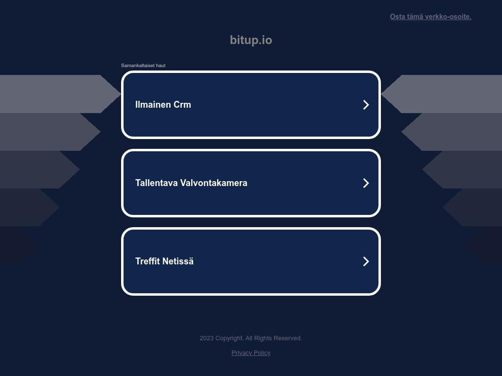Скриншот сайта bitup.io