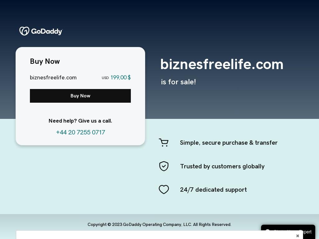 Скриншот сайта biznesfreelife.com