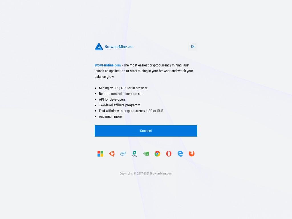 Скриншот сайта browsermine.com