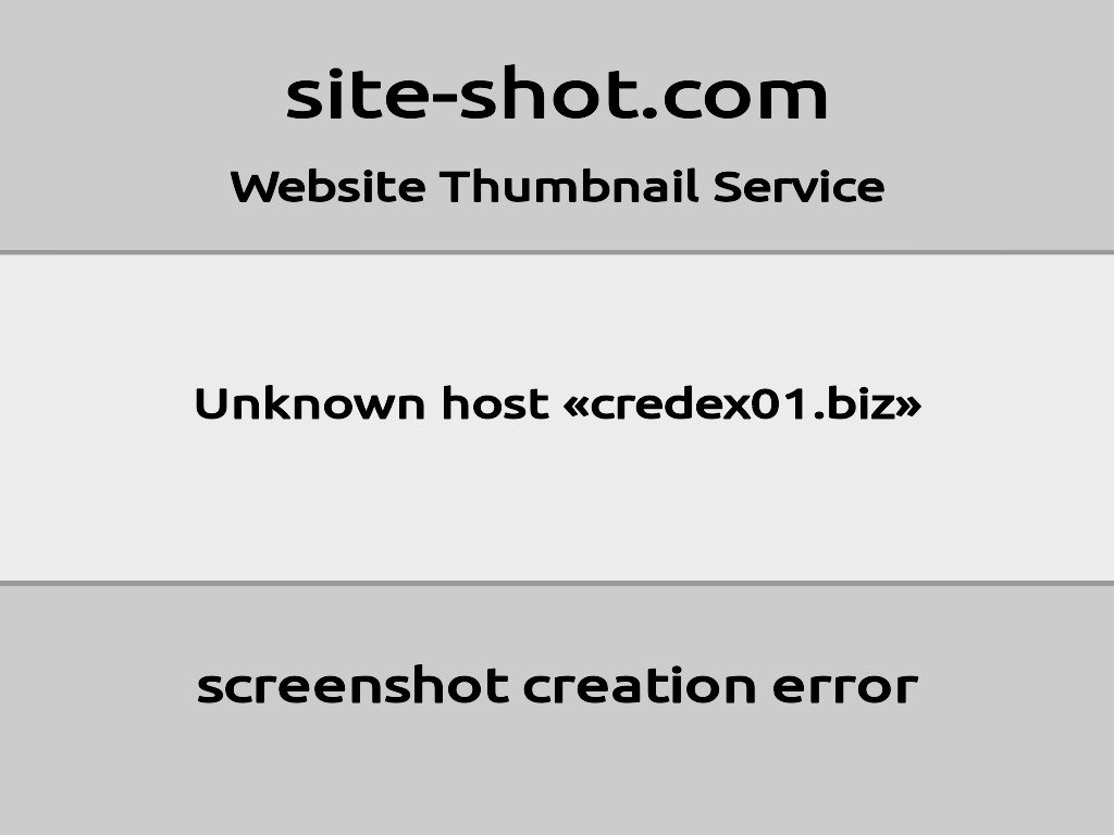 Скриншот сайта credex01.biz