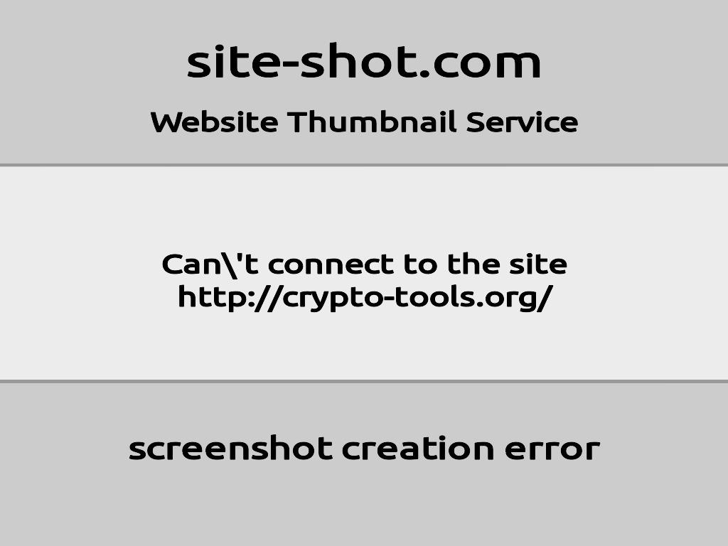 Скриншот сайта crypto-tools.org