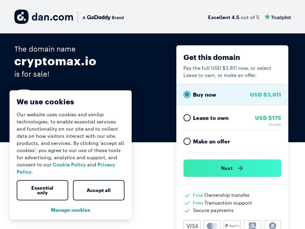 Скриншот сайта cryptomax.io