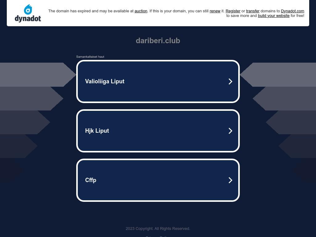 Скриншот сайта dariberi.club