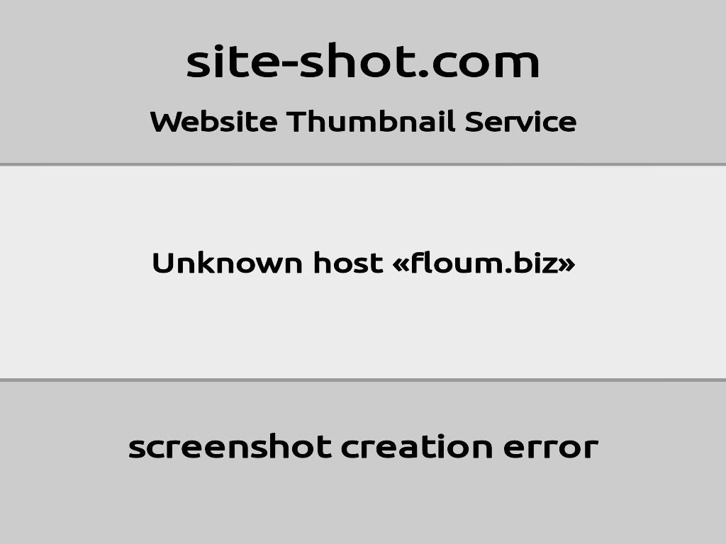 Скриншот сайта floum.biz