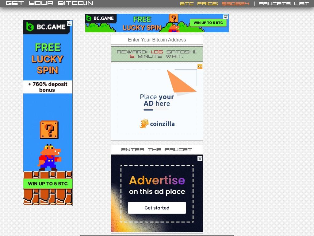 Скриншот сайта getyourbitco.in