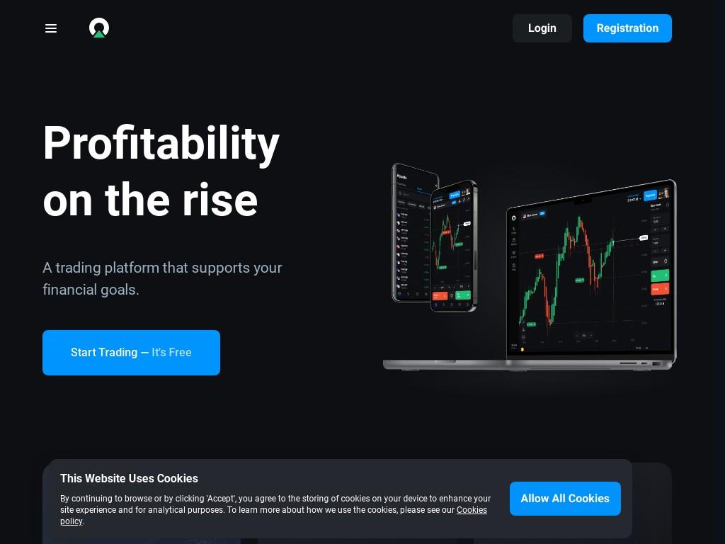 Скриншот сайта olymptrade.com