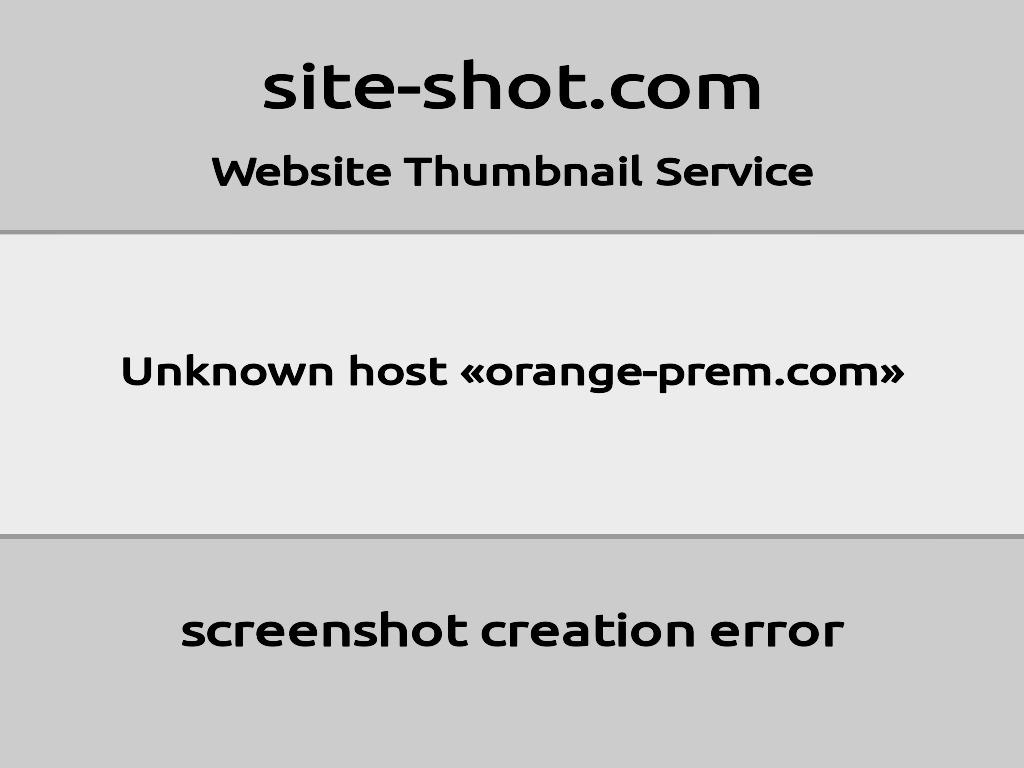 Скриншот сайта orange-prem.com