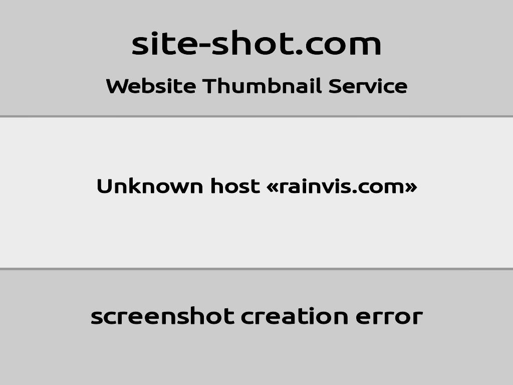 Скриншот сайта rainvis.com