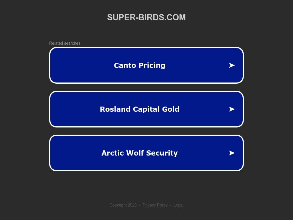 Скриншот сайта super-birds.com