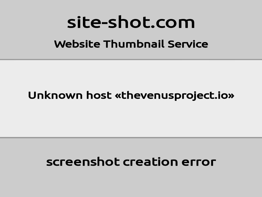 Скриншот сайта thevenusproject.io