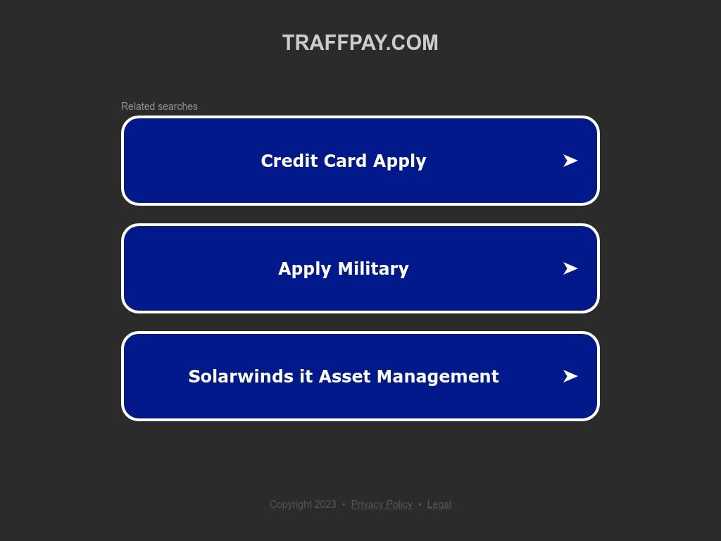 Скриншот сайта traffpay.com