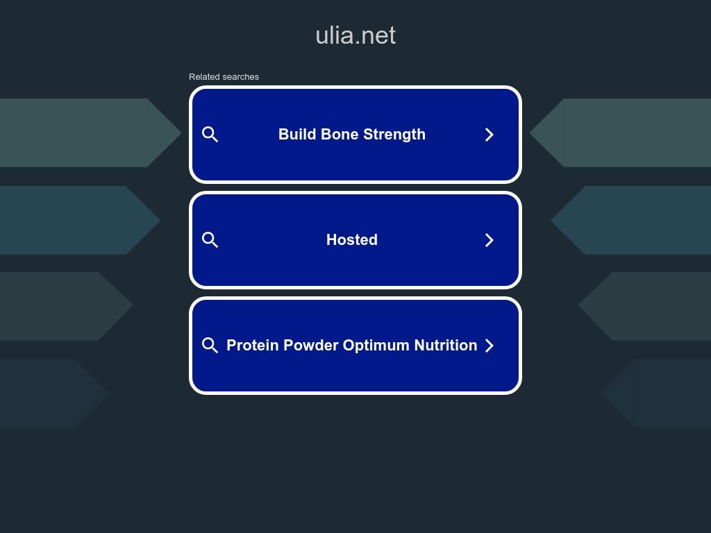 Скриншот сайта ulia.net