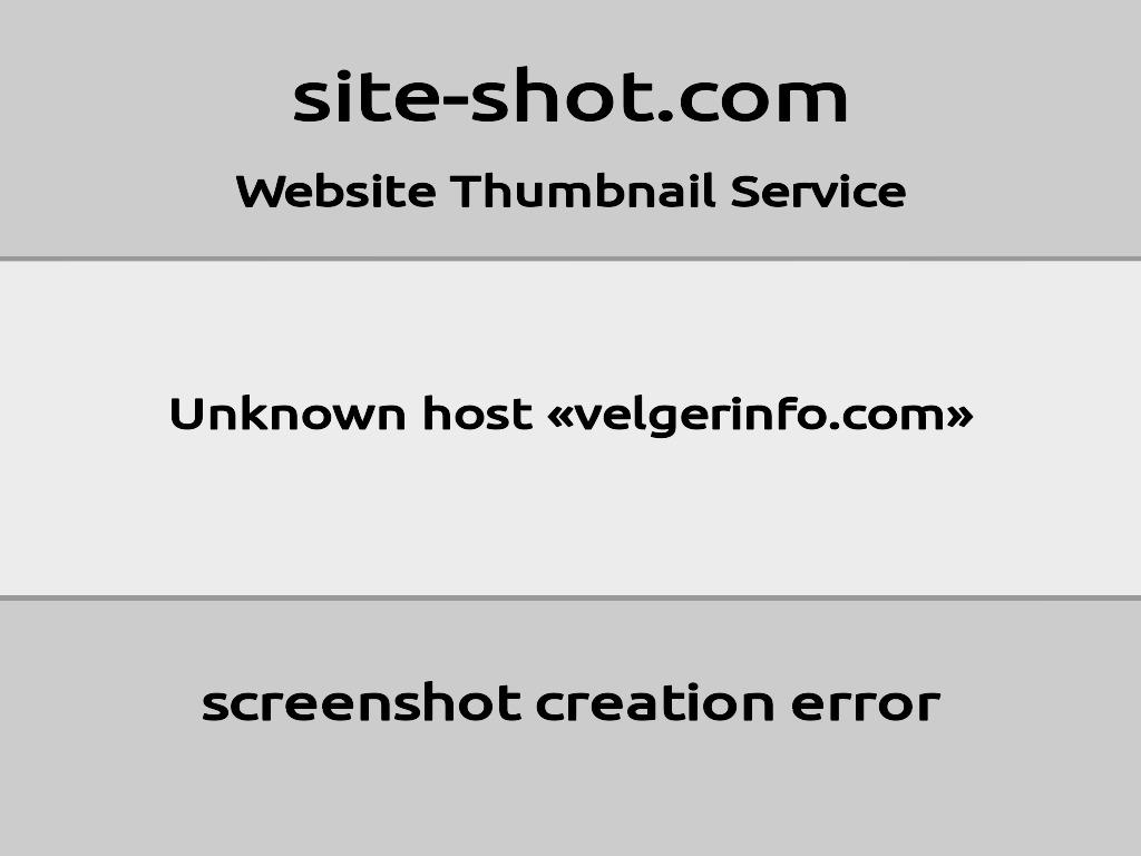 Скриншот сайта velgerinfo.com