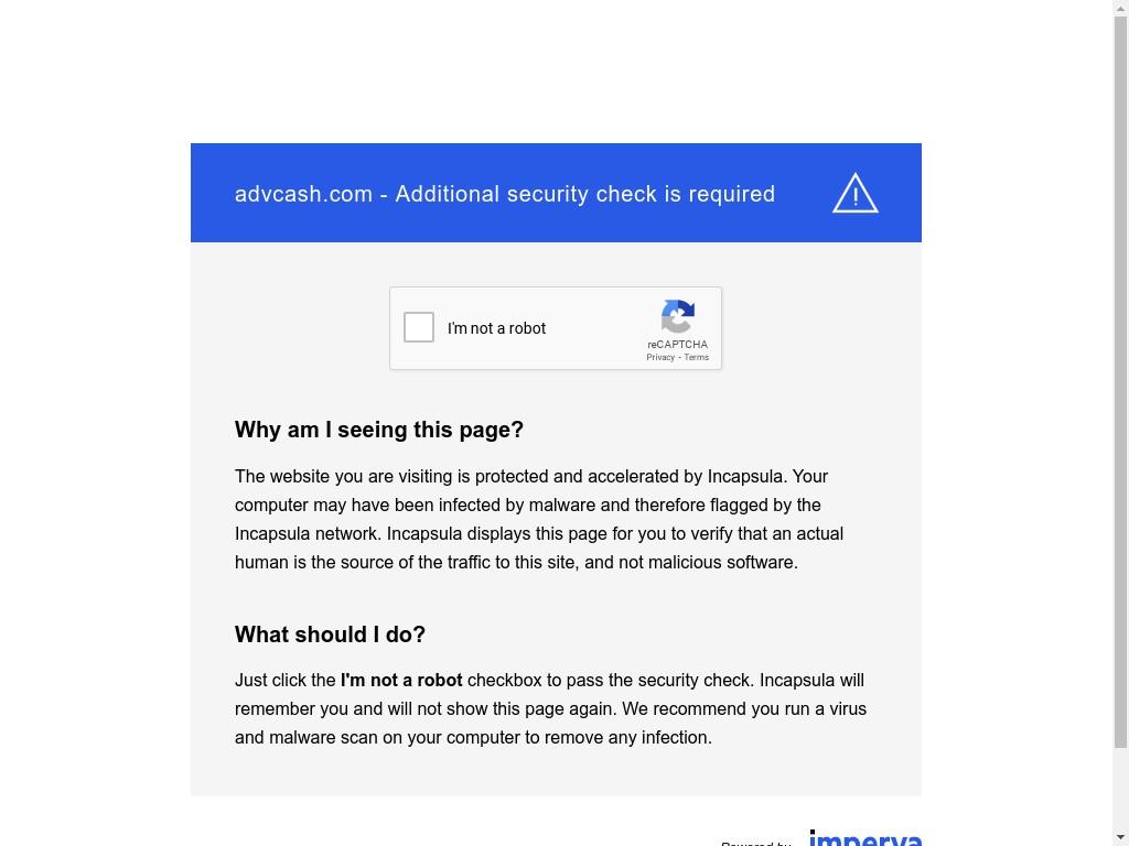 Скриншот сайта wallet.advcash.com