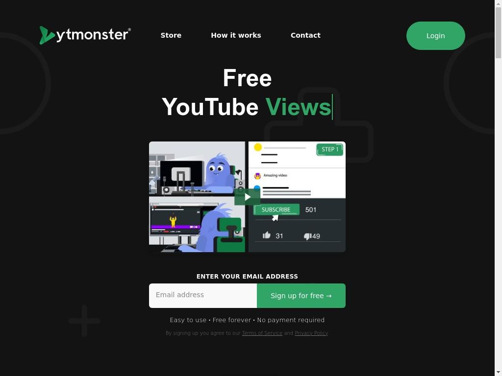 Скриншот сайта ytmonster.biz