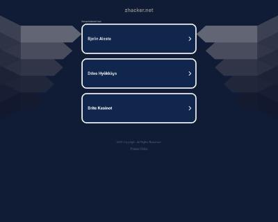 Скриншот сайта zhacker.net