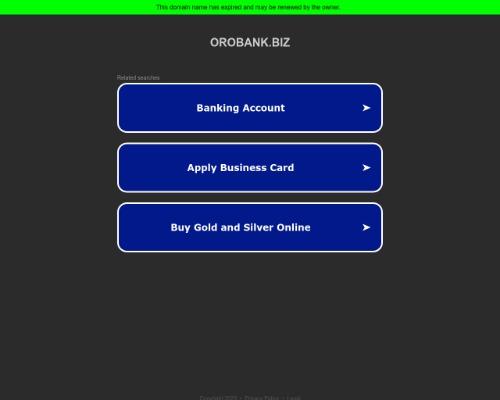 orobank screenshot