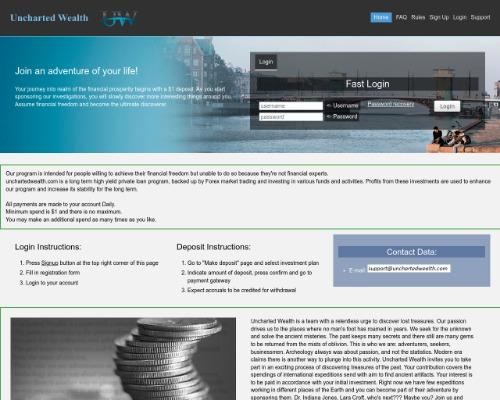 unchartedwealth screenshot