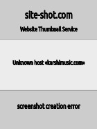 Скриншот сайта karshimusic.com