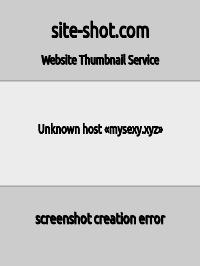 Скриншот сайта mysexy.xyz