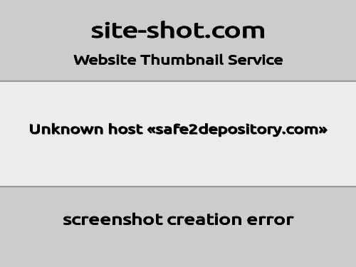 safe2depository.com screenshot