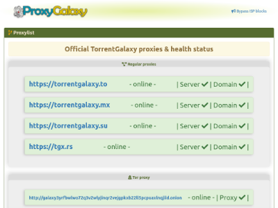 unblocked proxy torrentgalaxy.org